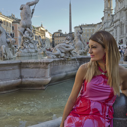 Girl in Navona Square, Rome, 2013