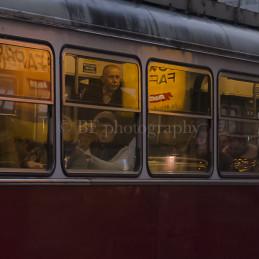 Man in tram, Wien, 2014