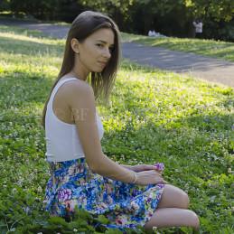 Romantic girl in the park, Rome, 2014