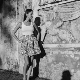 Julia's shadows, Rome, 2014