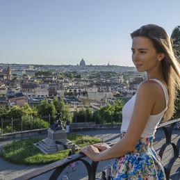 Girl in Villa Borghese, Rome, 2014